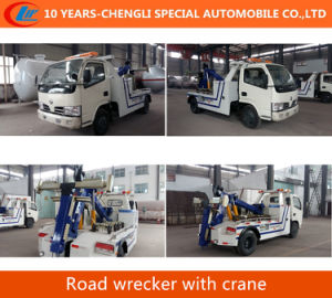 4*2 Tow Crane Road Wrecker Rescue Wrecker Truck with Crane pictures & photos