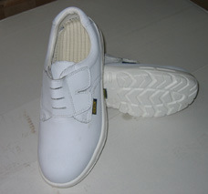 Magic Tape Design ESD/ Cleanroom White Safety Shoes pictures & photos
