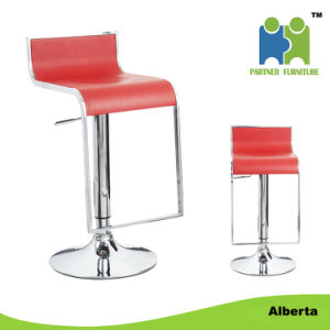 Long Durable Cheap Adjustable Hard Leather Cover Barstool (Alberta) pictures & photos