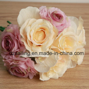 Rose and Orchid Bouquet Artificial Flower for Home Decoration (SF15876) pictures & photos