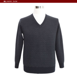 Bn1654 Yak /Merino Wool Long Sleeve V Neck Pullover Men′s Sweater for Spring and Autumn pictures & photos