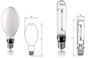 Sodium Lamp Tubular / Oval (SON-T AND SON-ED) E27 and E40 pictures & photos