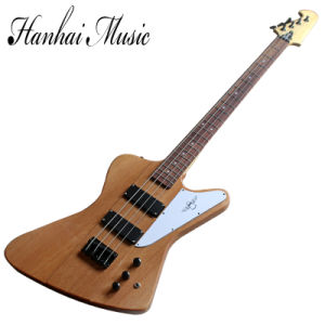 Hanhai Music / Brown Thunder Bird Electric Bass with White Pickguard pictures & photos