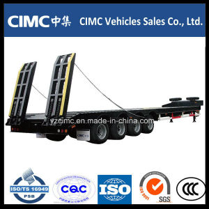 Cimc 4 Axles Low Bed Semi Trailer 80 Ton pictures & photos