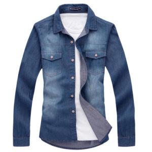 New Men′s Fashion Luxury Casual Denim Slim Jeans Shirt
