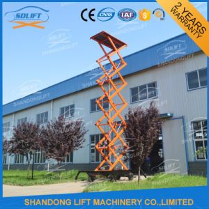 1000kgs 10m Mobile Manual Hydraulic Scissor Lift Table pictures & photos