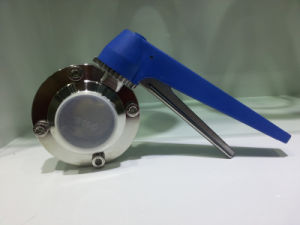 Sanitary Stainless Steel Clamped Butterfly Valve with Plastic Handle pictures & photos