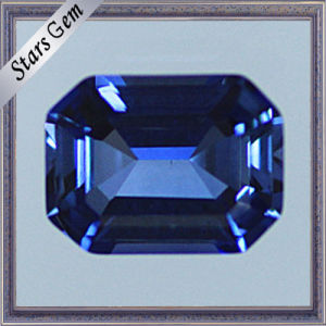 Octagon Emerald Cut Luminous Blue Sapphire for Fashion Jewelry pictures & photos