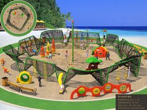 Kaiqi Large Climbing Set for Children′s Adventure Playground (KQ50104A) pictures & photos