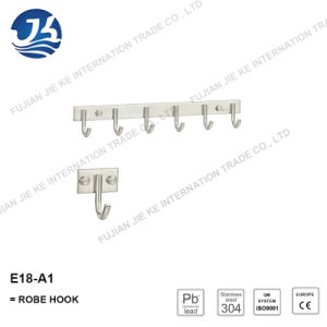 304 Stainless Steel Straight Clothes Robe Hook (E18-A1)