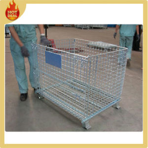 Folding Stainless Steel Storage Welded Wire Mesh Container pictures & photos