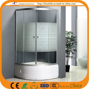 High Tray 45cm Stripe Glass Shower Cubicle (ADL-8035B) pictures & photos