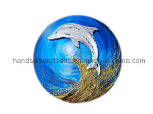 Circle Hanging Aluminum Relievo Wall Arts Decor - Silver Dolphin pictures & photos