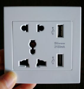 Smart Dual USB Charging Wall Socket Multi Socket pictures & photos