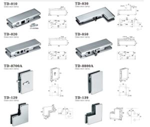 Stainless Steel Hinge Patch Fitting for Tempering Glass N020 pictures & photos