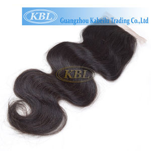 Brazilian Human Hair Silk Base Closure 4*4 pictures & photos