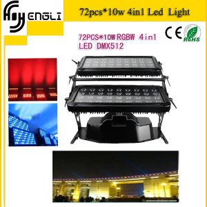 72PCS RGBW Waterproof 4in1 LED Effect Light for Dyeing