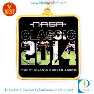 Custom Wholesale Metal Printed Soccer Sport Souvenir Medal pictures & photos