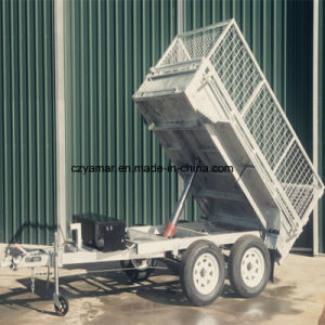 Hydraulic Tipping Trailer (8FT. X5FT fully welded box trailer) pictures & photos