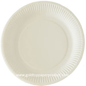 FDA Certified Round White Paper Dinner Plates pictures & photos