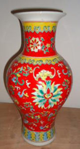 Chinese Antique Porcelain Red Vase pictures & photos