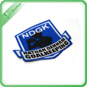 100% Polyester Fabric Woven Printed Clothing Label pictures & photos