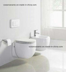 2304-5304wh Bathroom Sanitary Ware, Wall Hung Toilet and Wall Hung Bidet pictures & photos