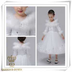 Autumn and Winter Lovely Sweet Bride Flower Girl Dress, Factory Direct pictures & photos