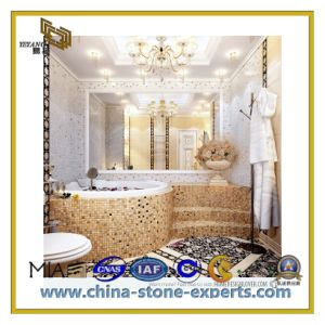Polished Natural Stone Granite Marble Mosaic Tiles for Bathroom (YQC) pictures & photos