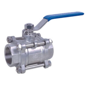 1000psi Stainless Steel 304 Three Piece Female Threaded Ball Valve pictures & photos