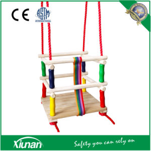 Children Wooden Swing Seat Chair with Guardrail pictures & photos