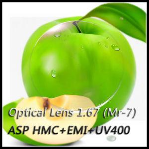 Optical Lens 1.67 (Mr-7) Asp Hmc+EMI+UV400 pictures & photos