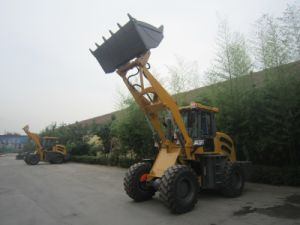 Shandong 2ton MID Size Front Wheel Loader with Quick Hitch, Electrical Joystick pictures & photos