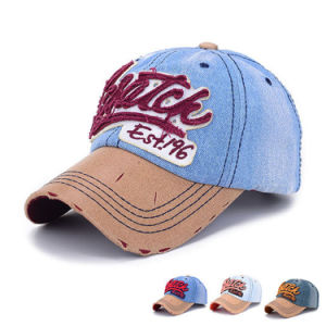 100% Washed Cotton Denim Promotional Baseball Cap (YKY3088) pictures & photos