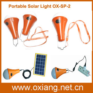 Integrated Mini LED Solar Flashlight Lighting for Camping Travelling pictures & photos