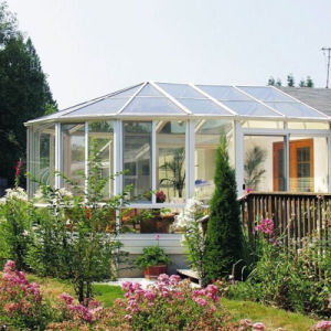 Feelingtop Aluminum Sunroom Double Laminated Glass Sun House pictures & photos