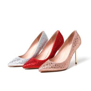 High Heel Sharp Toe Lady Women Wedding Shoes