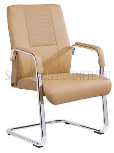 Hotsale Stackable Black Leather Armrest Chair (SZ-OCA1007) pictures & photos