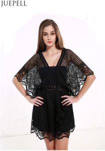 Summer New Women Explosion Models Sexy Lace Stitching Hollow Halter Jumpsuit Dress pictures & photos