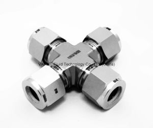 Stainless Steel Twoferrule Cross Tube Fittings