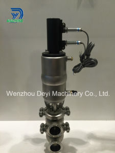 Pneumatic Sanitary Double Seat Mix Proof Valve pictures & photos