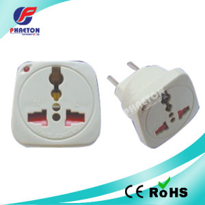 Multi Socket to 2 Pin Round Plug Power Adaptor pictures & photos