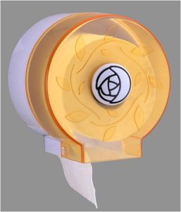Hotel Publicl Toilet Wholesale Orange Translucent Round Plastic Wall Mounted Tissue Paper Towel Roll Dispenser Holder pictures & photos