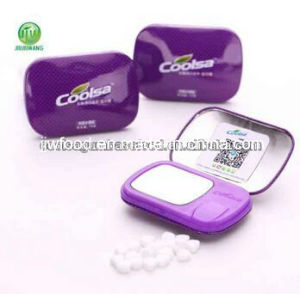 14G Fruit Flavor Tablet Candy with Mirror- Purple pictures & photos