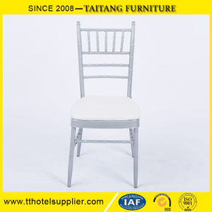 Chinese Hot Sell Hotel Furniture Iron White Tiffany Chair pictures & photos