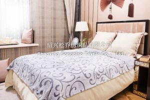 Blanket / Polyester Embossed Flannel Fleece Blanket pictures & photos