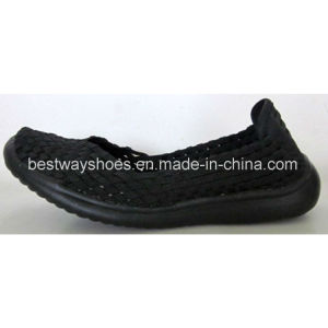 Women′s Shoes Weave Shoes Slip-on Shoes pictures & photos