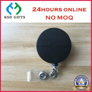 Promotional Square Style Custom Design Retractable Metal Badge Reel pictures & photos