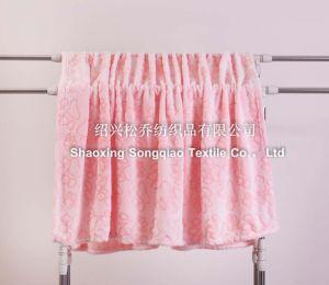 Super Soft 3D Embossed Flannel Fleece Blanket / Cut Fleece Blanket-Footprint pictures & photos