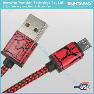 Nylon Braided Micro USB Data Cable Charger Cable for Android pictures & photos